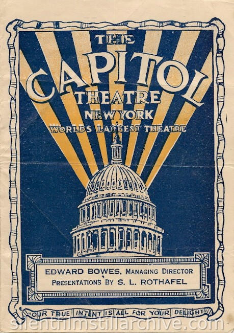 Capitol Theatre program