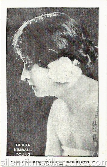 Clara Kimball Young on the Dearborn Theatre program, February 25, 1918, Chicago, Illinois