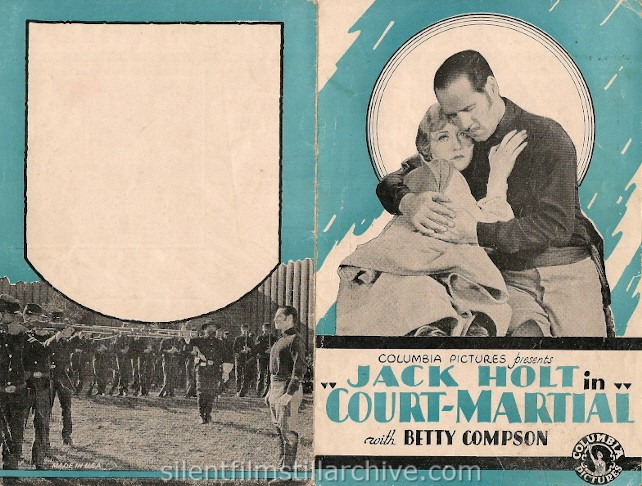 Jack Holt and Betty Compson in COURT-MARTIAL (1928)