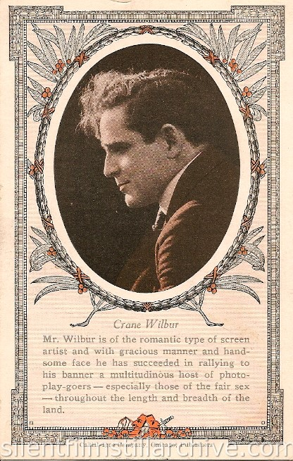 Crane Wilbur theater advertisement card