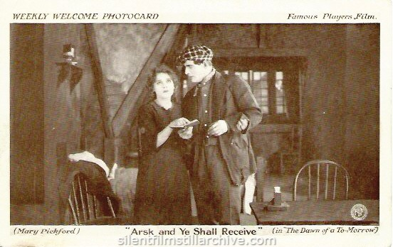 THE DAWN OF A TOMORROW (1915) Photocard with  Mary Pickford.