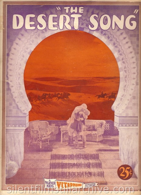 DESERT SONG (1929) program
