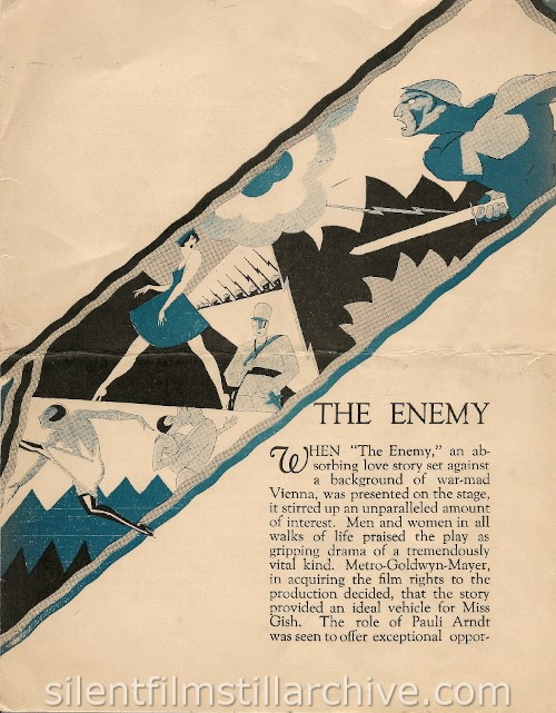 THE ENEMY (1928) program