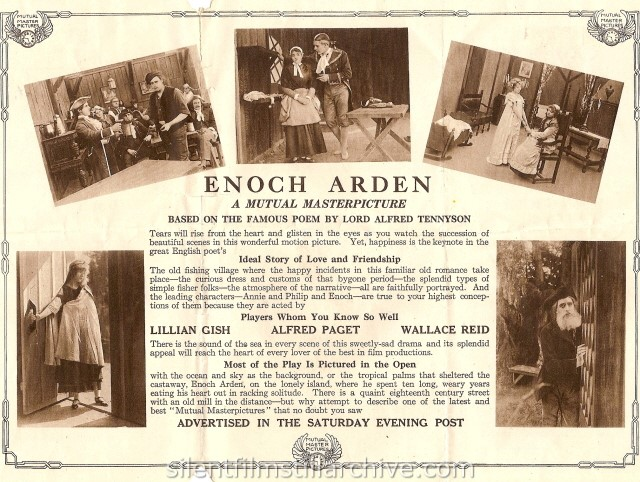 Lillian Gish and Wallace Reid in ENOCH ARDEN (1915)