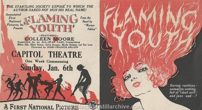 Advertising herald for FLAMING YOUTH (1923) with Colleen Moore.