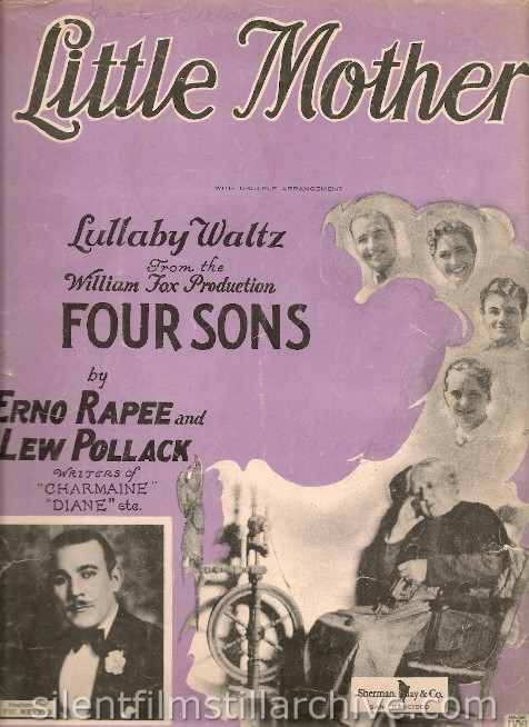 FOUR SONS (1928) Sheet Music