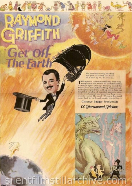 Advertisement for GET OFF THE EARTH with Raymond Griffith