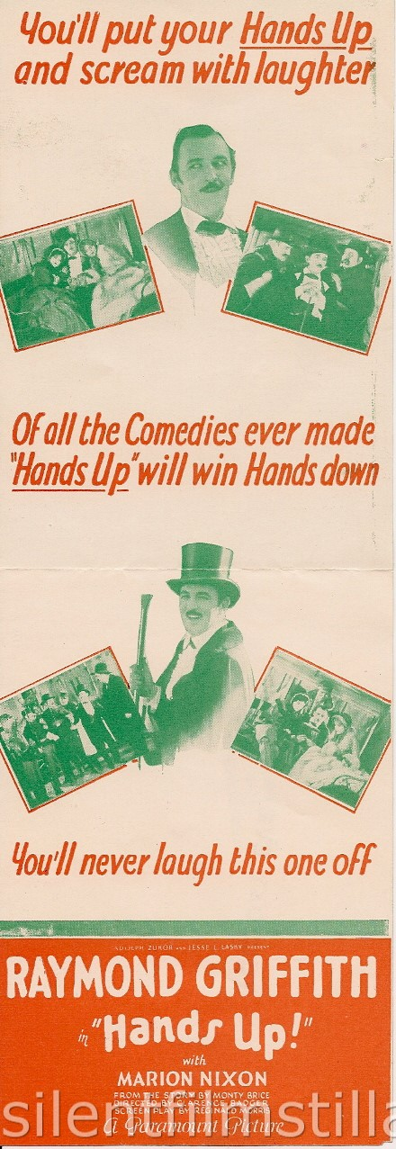 HANDS UP! advertising herald with Raymond Griffith