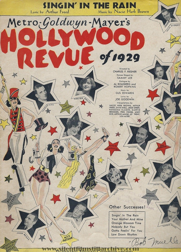 HOLLYWOOD REVUE OF 1929 Sheet Music
