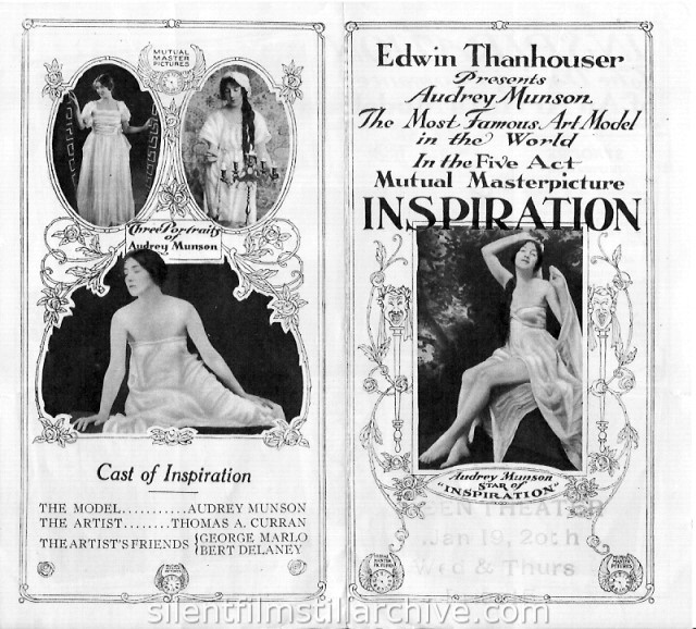 Audrey Munson in INSPIRATION (1915)