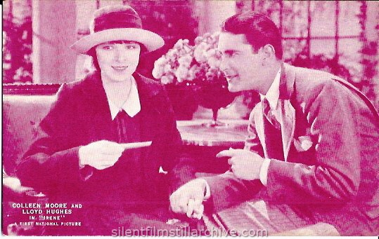 Postcard for IRENE (1926) with Colleen Moore and Lloyd Hughes.