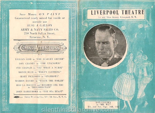 Liverpool, New York Theater program