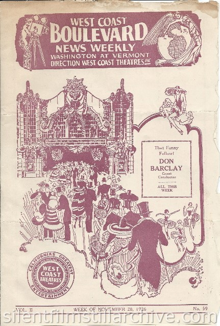 Los Angeles Boulevard Theatre program