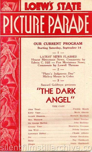 Loew's State Theatre program, September 14, 1935