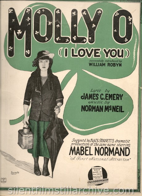 Mabel Normand MOLLY O sheet music
