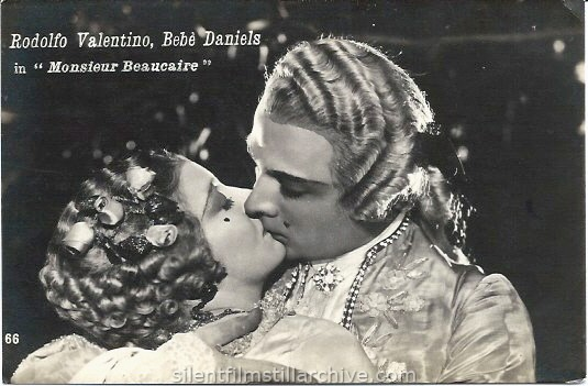 Bebe Daniels and Rudolph Valentino in MONSIEUR BEAUCAIRE (1924) postcard