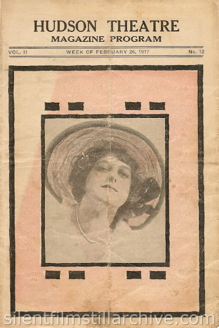 Hudson Theatre, New York City, New York program for February 26, 1917