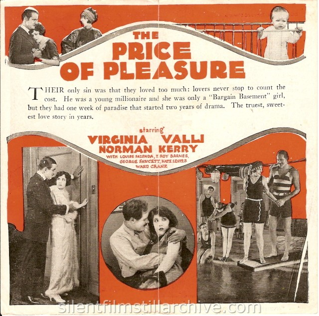 PRICE OF PLEASURE (1925) herald