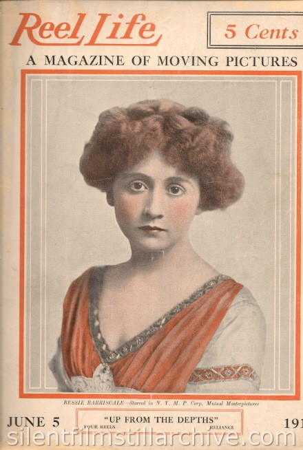 June 5, 1915 Reel Life magazine cover featuring Bessie Barriscale