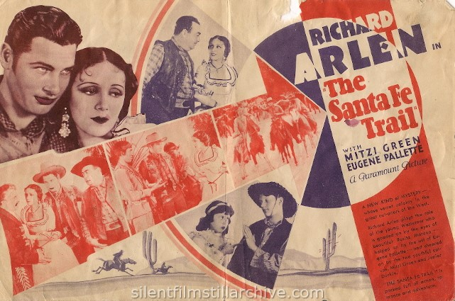 Advertising Herald for THE SANTA FE TRAIL (1930) with Richard Arlen and Mitzi Green.