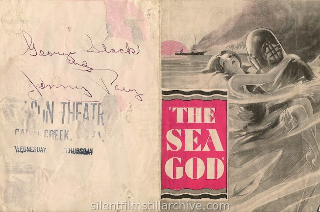Advertising Herald for THE SEA GOD (1930) with Richard Arlen and Fay Wray.