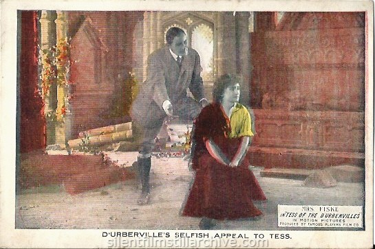 TESS OF D'URBERVILLES (1913) postcard with David Torrence and Minnie Maddern Fiske