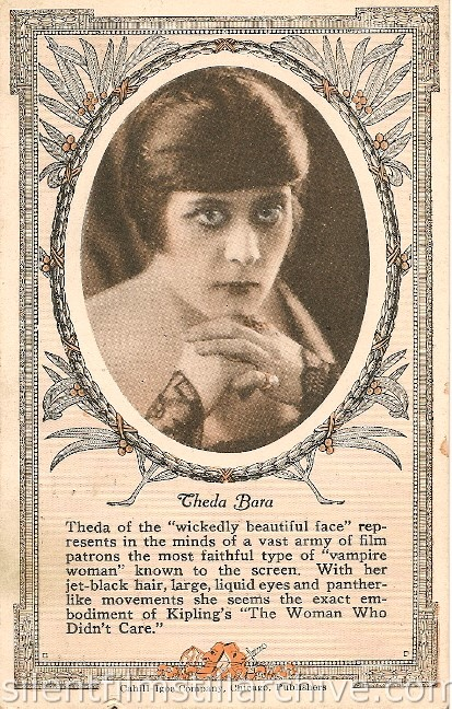 Theda Bara advertising card