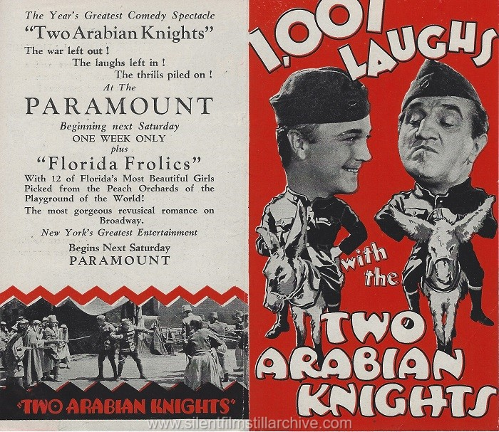 Herald for TWO ARABIAN KNIGHTS (1927) with William Boyd and Louis Wolheim