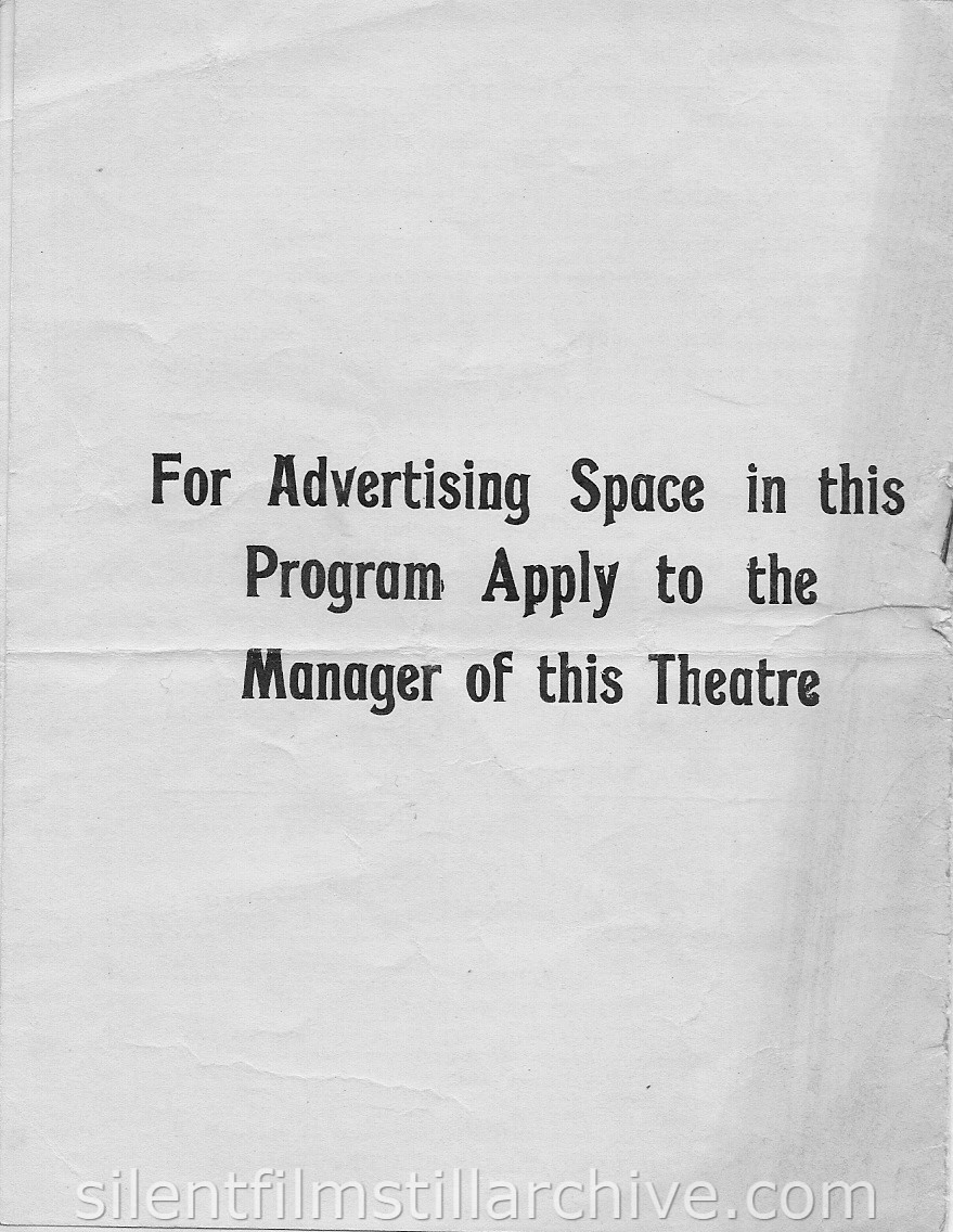 Palace Theater Program, White Plains, NY