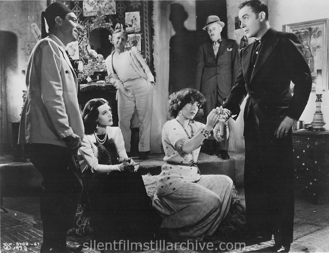 Hedy Lamarr, Joan Woodbury, Charles Boyer, Ben Hall and Charles D. Brown and Joseph Calleia in ALGIERS (1938)
