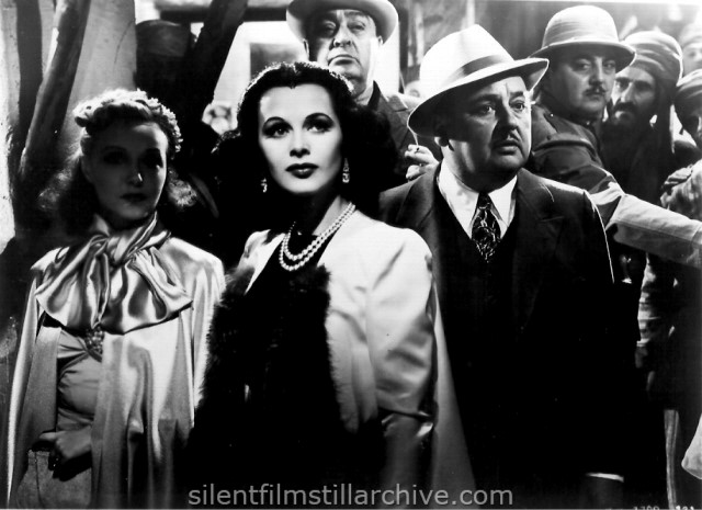 Claudia Dell, Hedy Lamarr, Robert Grieg and Bert Roach in ALGIERS (1938)
