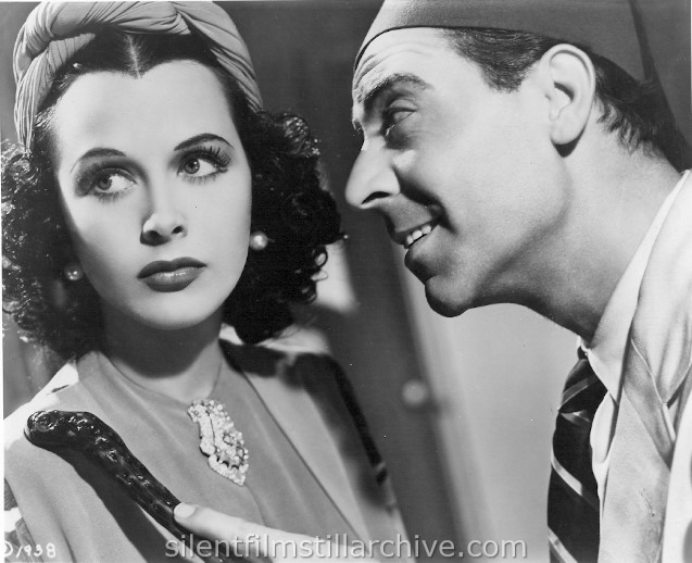 Hedy Lamarr and Joseph Calleia in ALGIERS (1938)