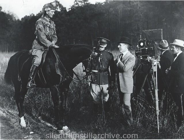 D. W. Griffith directing AMERICA (1924).