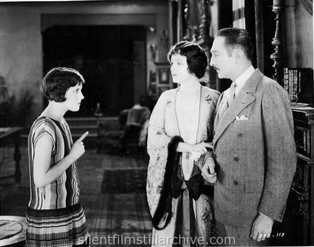 Betty Bronson, Florence Vidor and Adolphe Menjou in ARE PARENTS PEOPLE (1925)