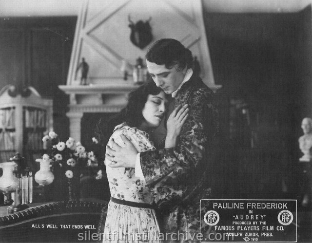 Pauline Frederick and Charles Waldron in AUDREY (1916)