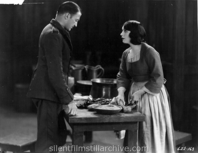 Clive Brook and Pola Negri in BARBED WIRE (1927)