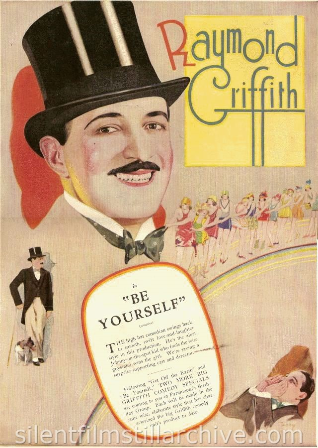 Unproduced film BE YOURSELF (1926) with Raymond Griffith