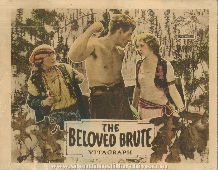 Lobby card with Mary Alden, Victor McLaglen and Marguerite de la Motte in THE BELOVED BRUTE (1924)