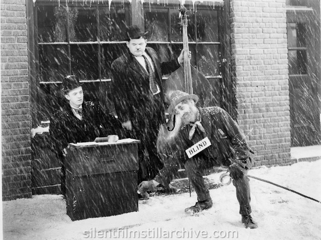 Stan Laurel, Oliver Hardy and Bobby Burns in BELOW ZERO (1930)