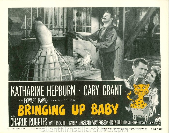 BRINGING UP BABY (1938). 1955 Re-release Lobby Card