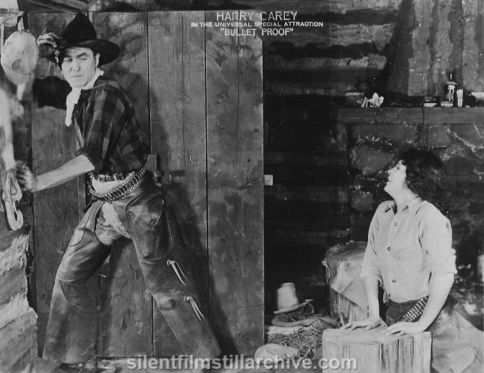 Harry Carey and Beatrice Burnham in BULLET PROOF (1920)