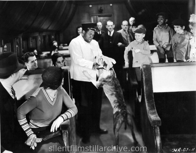 "Pete the Dog, John Williams, Bobby ""Wheezer"" Hutchins, Matthew ""Stymie"" Beard, Kendall ""Breezy Brisbane"" McComas, and Dorothy DeBorba in CHOO CHOO! (1932), an Our Gang comedy"