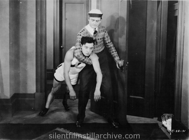 Buster Keaton and Harold Goodwin in COLLEGE (1927)