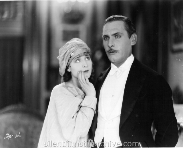 Norma Shearer and Lew Cody in THE DEMI-BRIDE (1927)