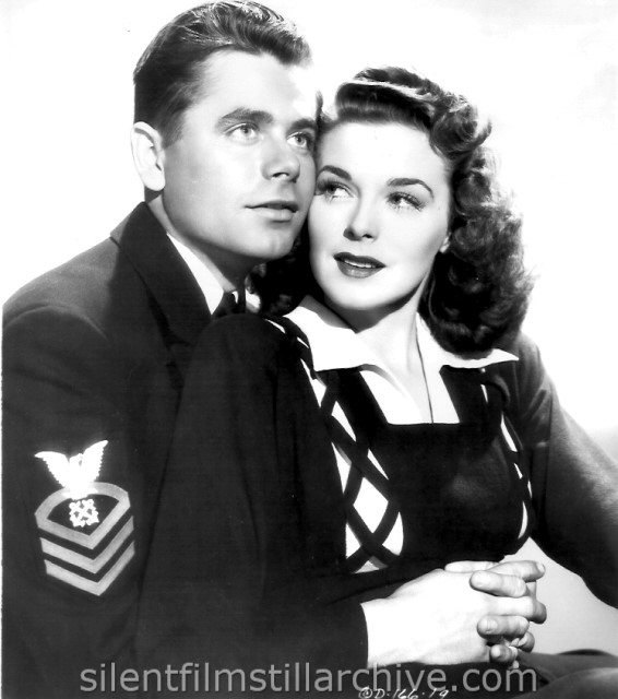 Glenn Ford and Marguerite Chapman in DESTROYER (1943)