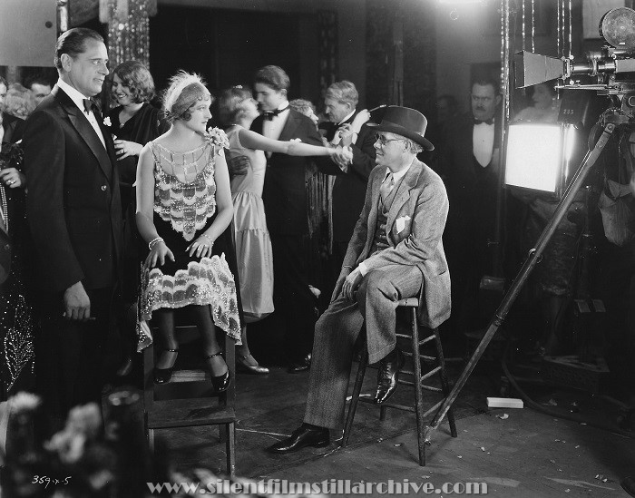 Sam Hardy, Eleanor Boardman, and director John P. McCarthy in DIAMOND HANDCUFFS (1928)
