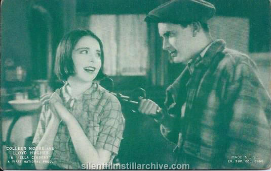 Arcade card with Colleen Moore and Lloyd Hughes in ELLA CINDERS (1926)