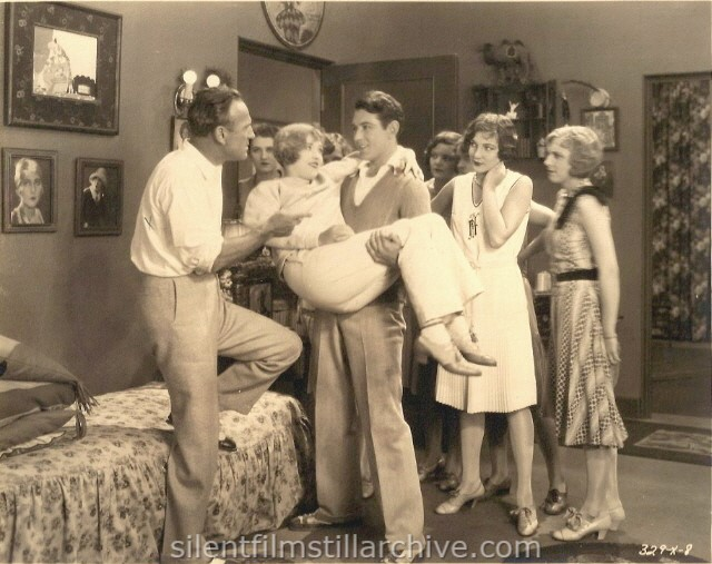 Sam Wood directs Marion Davies, Johnny Mack Brown, and Jane Winton in THE FAIR CO-ED (1927).