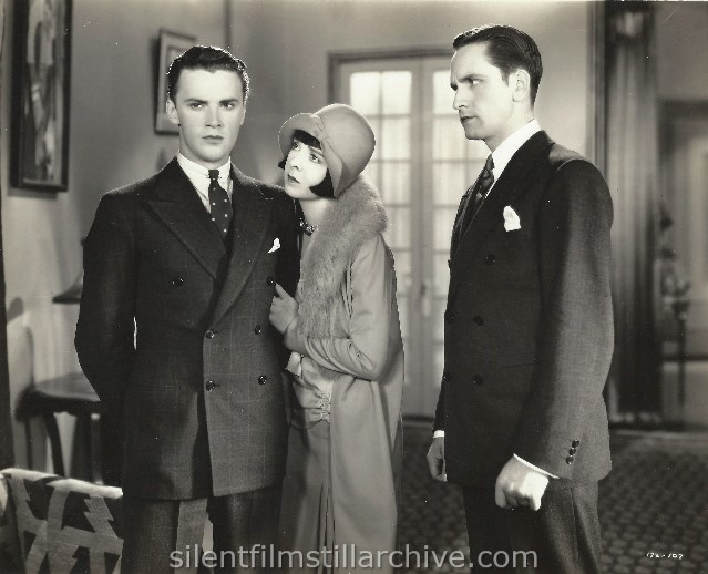 Raymond Hackett, Colleen Moore and Fredric March in FOOTLIGHTS AND FOOLS (1929).