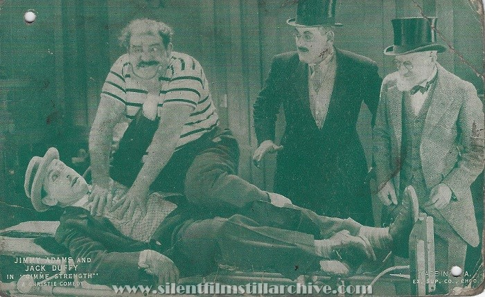 Jimmie Adams, Kalla Pasha, Eddie Baker, and Jack Duffy in GIMME STRENGTH (1926)